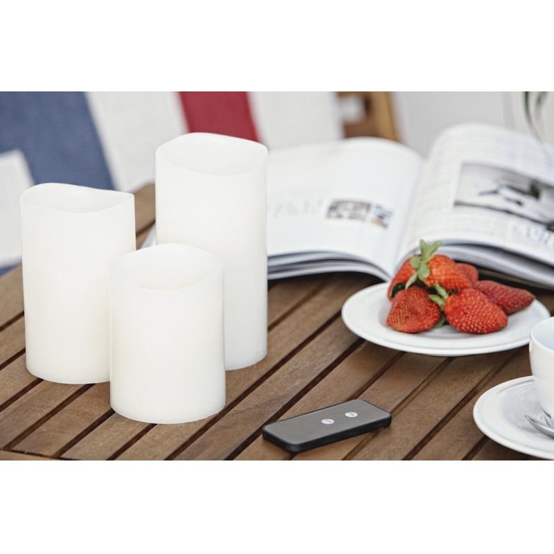led kerze kunststoff 39 39 outdoor candle 39 39 sompex led kerzen querpass shop. Black Bedroom Furniture Sets. Home Design Ideas