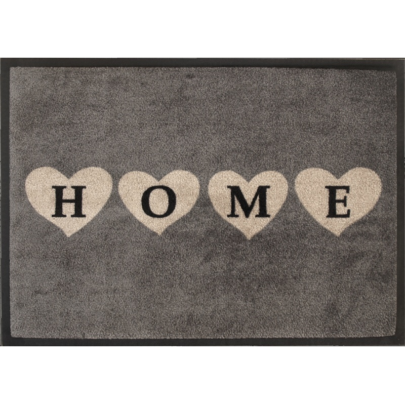 fu matte easy clean 39 39 home herzen grau 39 39 fu matten. Black Bedroom Furniture Sets. Home Design Ideas