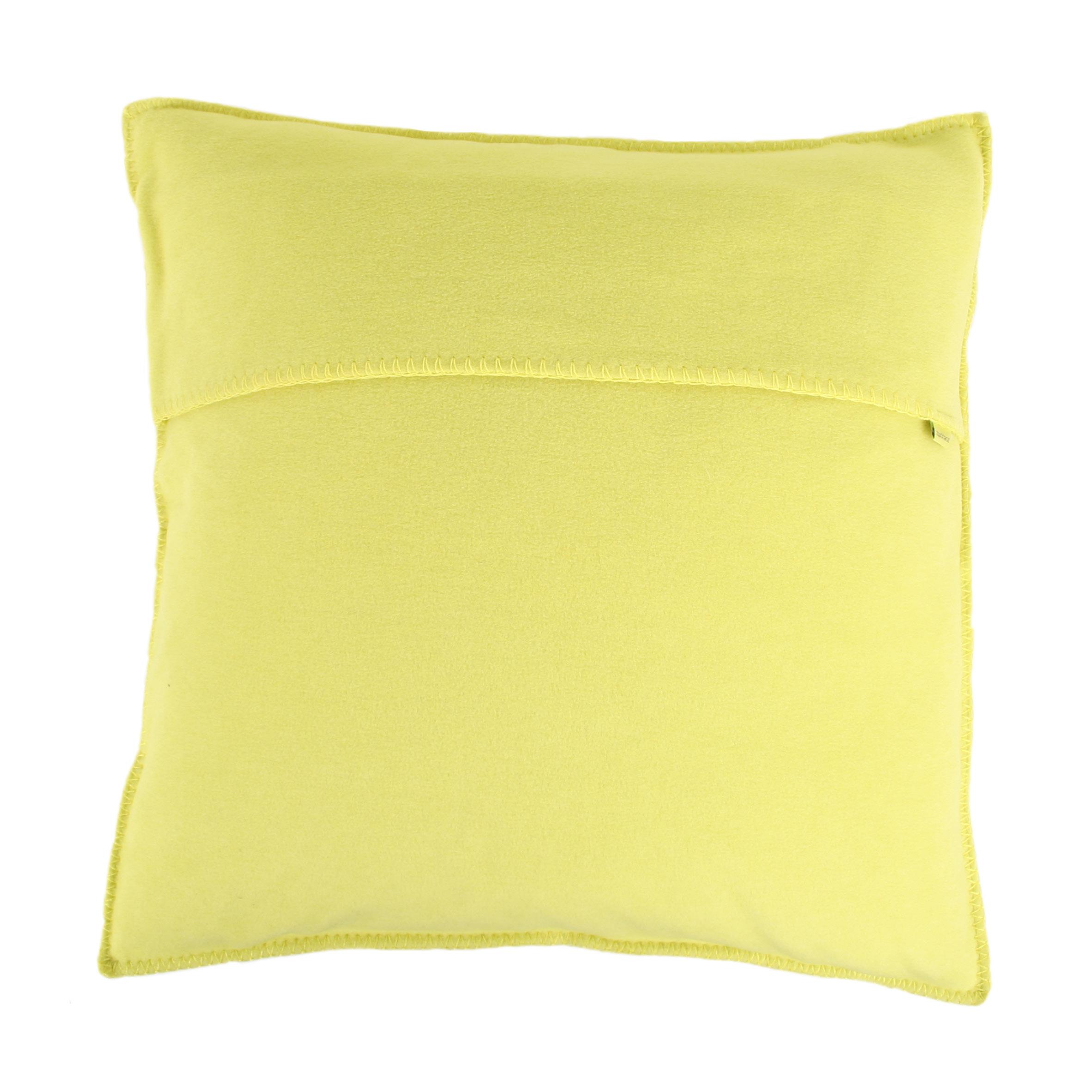 zoeppritz soft fleece kissen 40x40 lime 2 er set zoeppritz decken querpass shop. Black Bedroom Furniture Sets. Home Design Ideas
