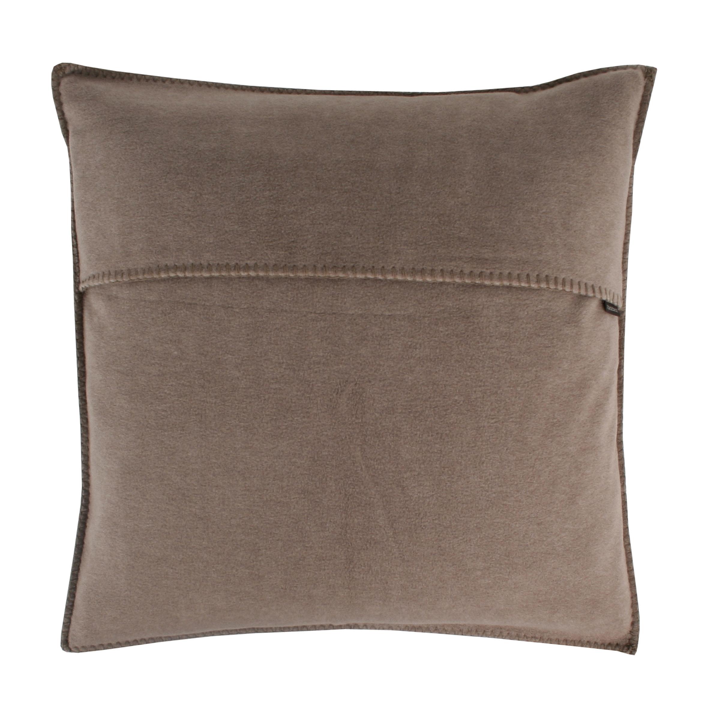 zoeppritz soft fleece kissen 40x40 braun 2 er set. Black Bedroom Furniture Sets. Home Design Ideas