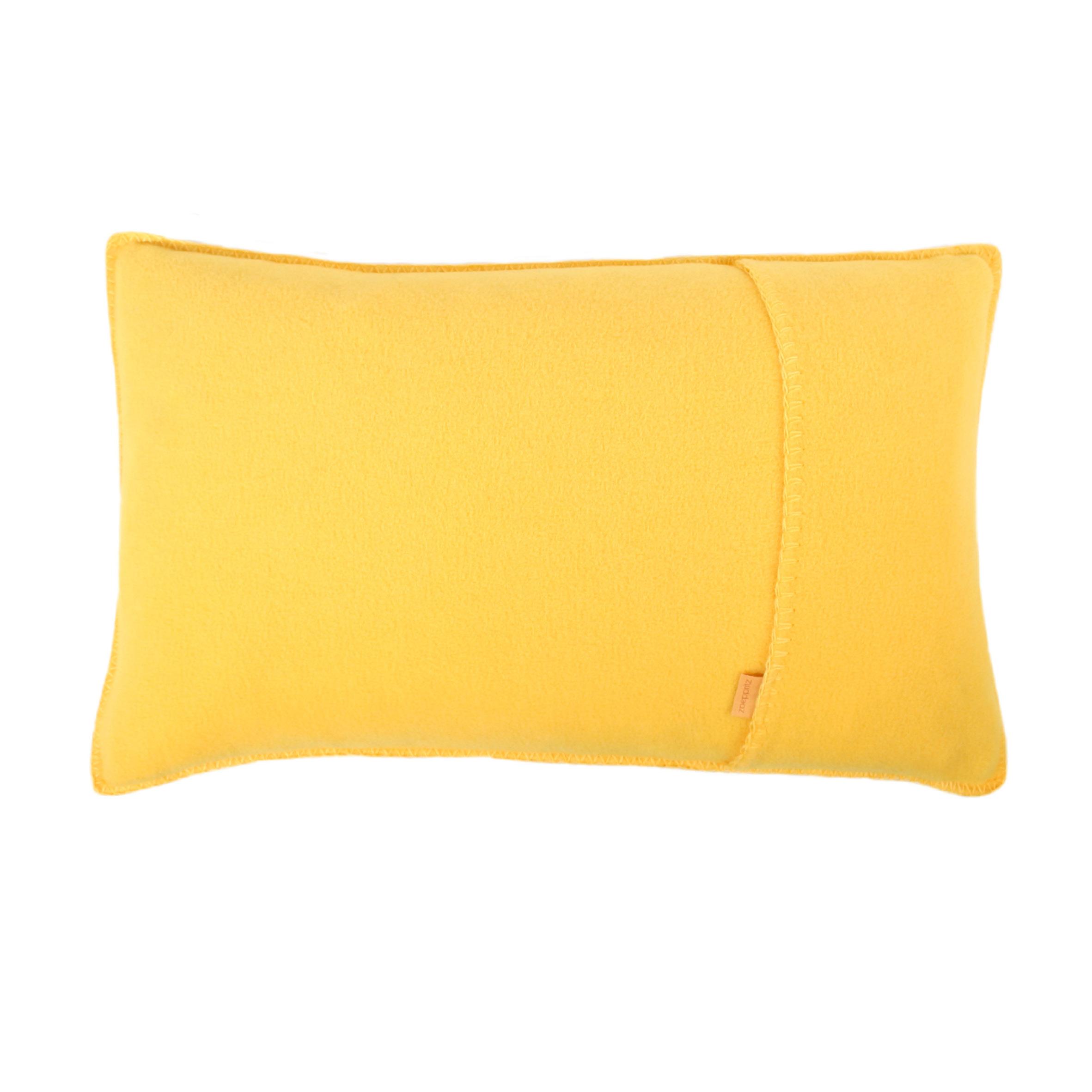 zoeppritz soft fleece kissen 30x50 gelb 2 er set. Black Bedroom Furniture Sets. Home Design Ideas