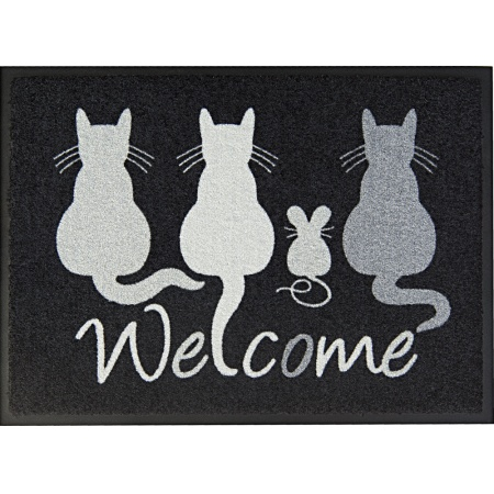 Fußmatte Easy Clean ''Cats Welcome''