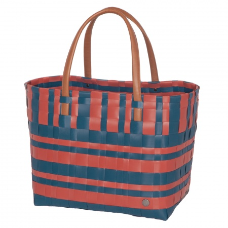 LUMBERJACK Shopper rusty red with midnight blue