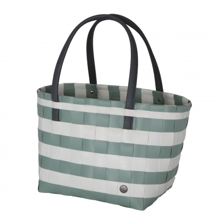 COLOR BLOCK VINTAGE Shopper greyish green with white