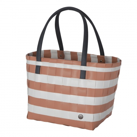 COLOR BLOCK VINTAGE Shopper copper blush with white