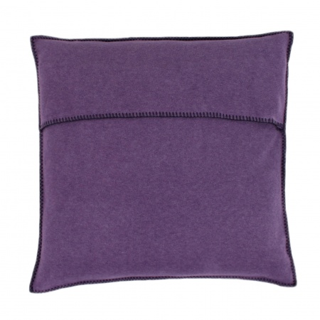 Zoeppritz Soft Fleece Kissen 50x50 Aubergine, 2-er Set
