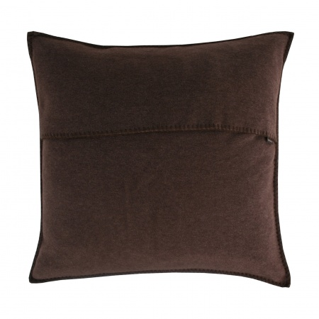 Zoeppritz Soft Fleece Kissen 50x50 dark brown, 2-er Set