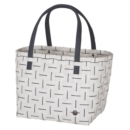 ELEGANCE Shopper white with dark grey