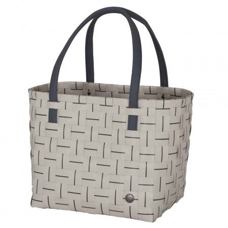 ELEGANCE Shopper pale grey with dark grey