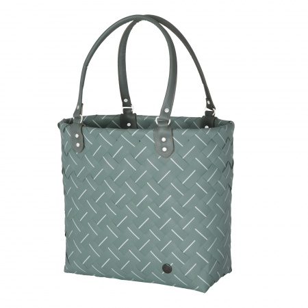 INTENSE Shopper greyish green with white