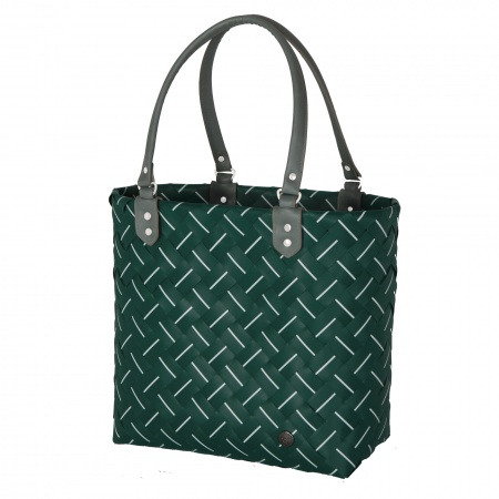 INTENSE Shopper botanical green with white