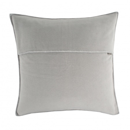 Zoeppritz Soft Fleece Kissen 40x40 light grey mel., 2-er Set