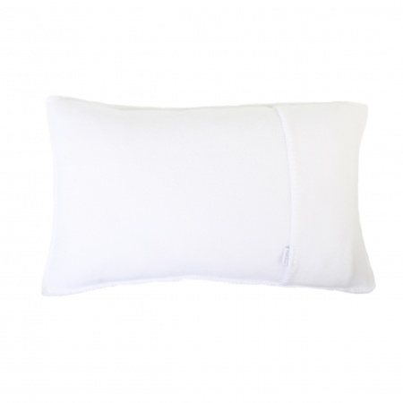 Zoeppritz Soft Fleece Kissen 30x50 white, 2-er Set