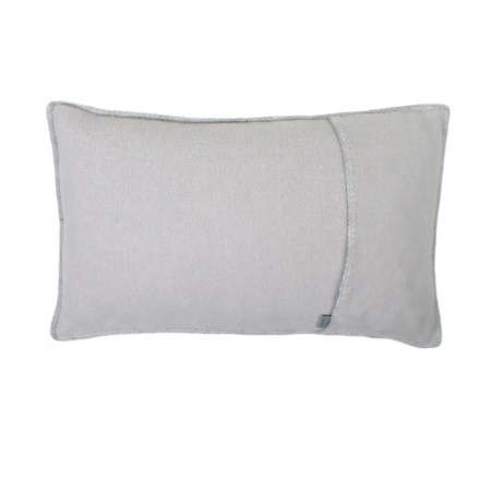 Zoeppritz Soft Fleece Kissen 30x50 light grey mel., 2-er Set
