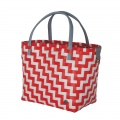 WAVES Shopper coral red white stripe