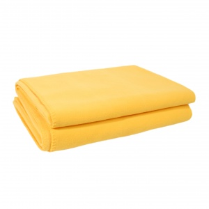 Zoeppritz Soft Fleece Decke Gelb