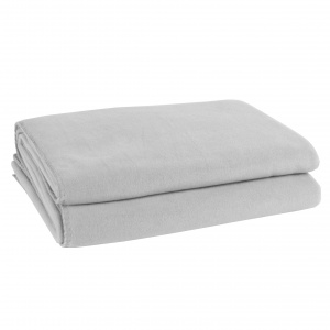 Zoeppritz Soft Fleece Decke light grey mel.