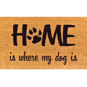 Coco Design Kokosfußmatte ''Home is my Dog''
