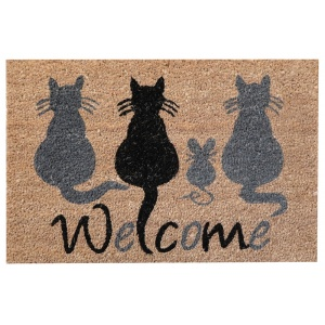 Coco Design Kokosfußmatte ''Welcome Cats''