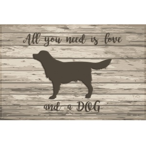 Fußmatte ''All you need a dog'' Gallerymatte