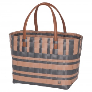 LUMBERJACK Shopper hazelnut brown with dark grey