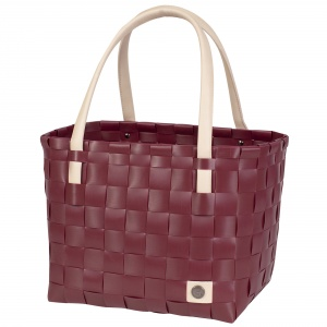 COLOR BLOCK Shopper burgundy