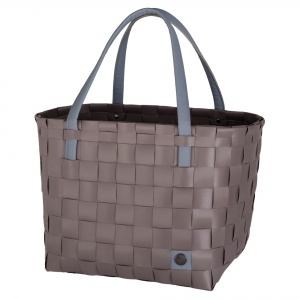COLOR BLOCK Shopper stone brown