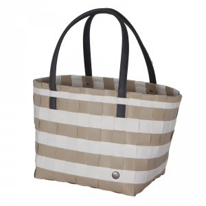 COLOR BLOCK VINTAGE Shopper sand with white