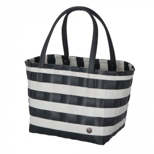 COLOR BLOCK VINTAGE Shopper dark grey with white